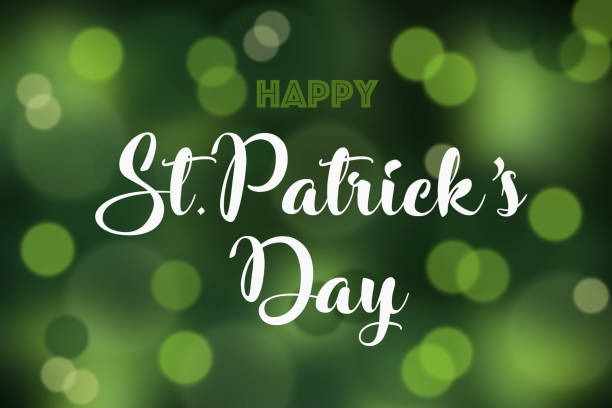 Happy St. Patrick's Day Happy St Patrick's day on a defocused bokeh background stock photo. st patricks day stock pictures, royalty-free photos & images
