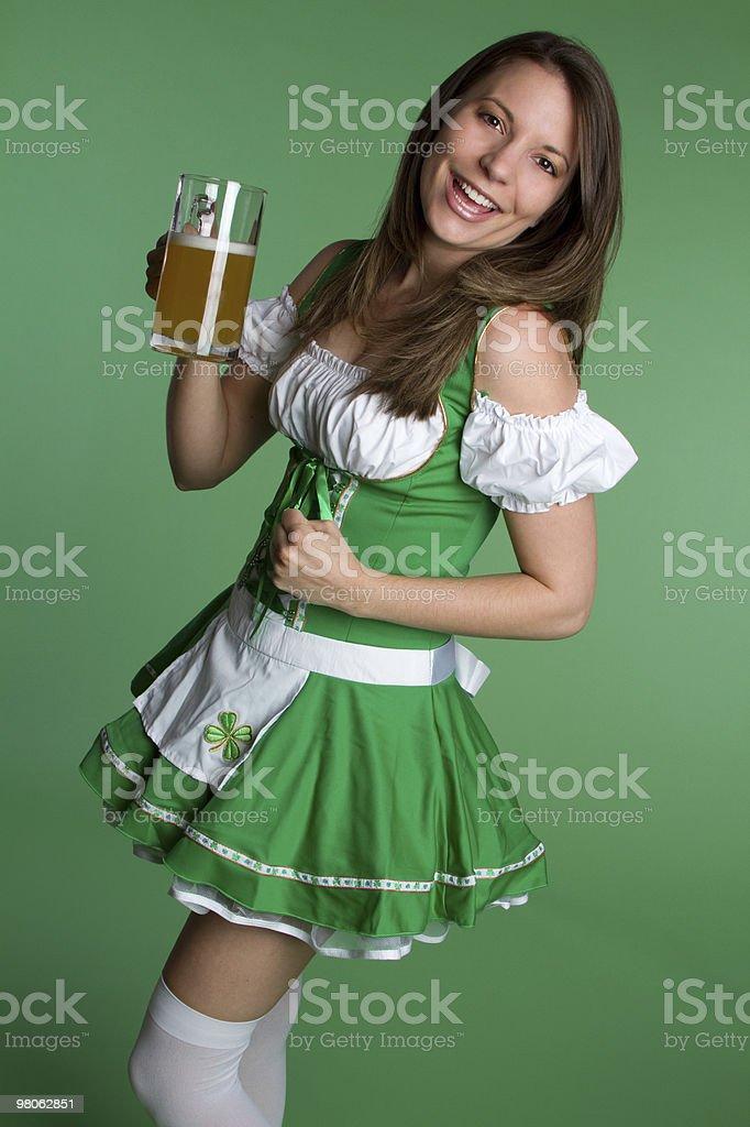 Felice St Patricks ragazza foto stock royalty-free