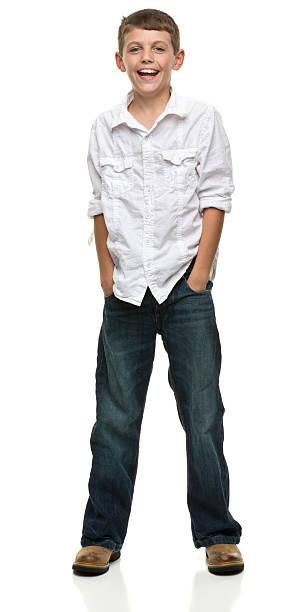 Happy Standing Boy stock photo