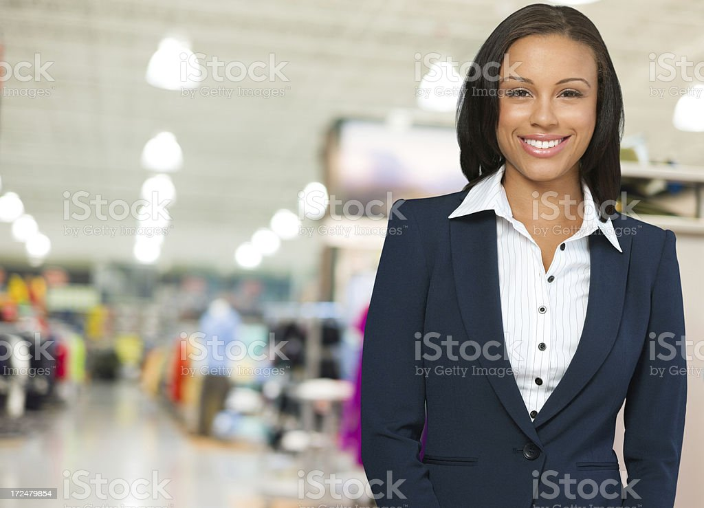 happy store manager royalty-free stock photo