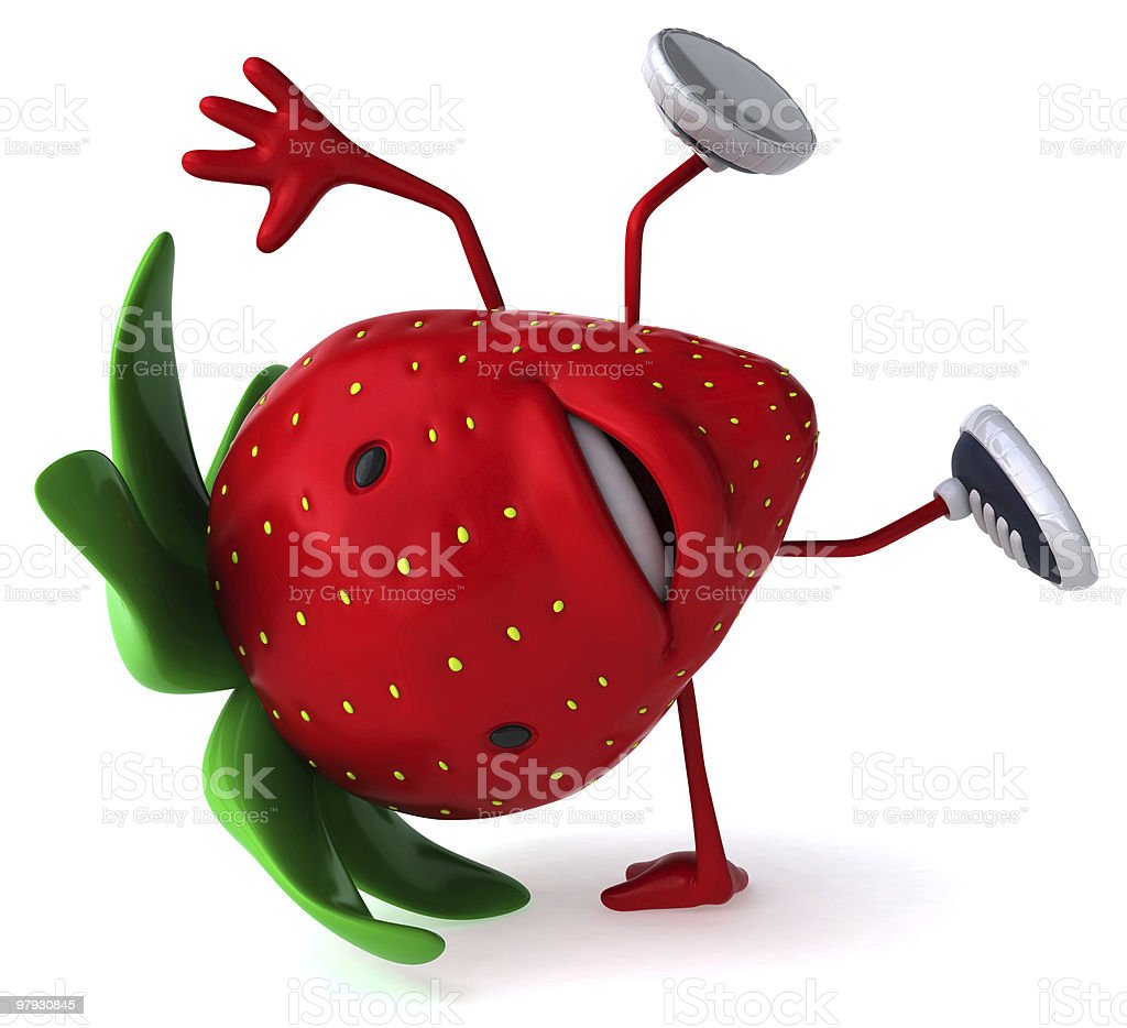 Happy strawberry royalty-free stock photo