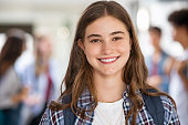 istock Happy student girl at high school 1278976856