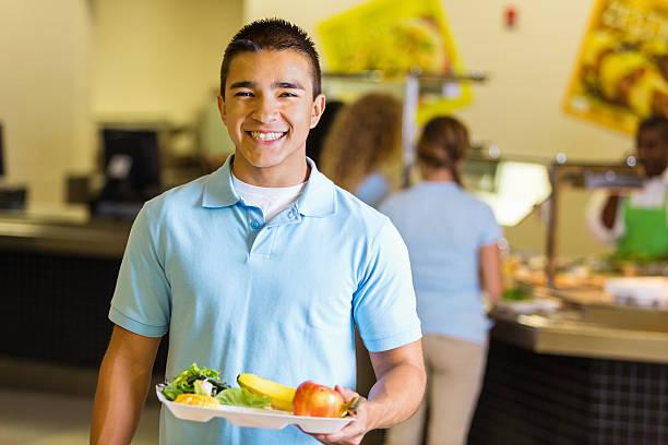 Happy student holding tray of healthy food in school lunchroom picture id498616287?b=1&k=6&m=498616287&s=612x612&w=0&h=5i9ywsxur1ghxht5fw w zwnmr64 p7o6 aftrvxqmo=