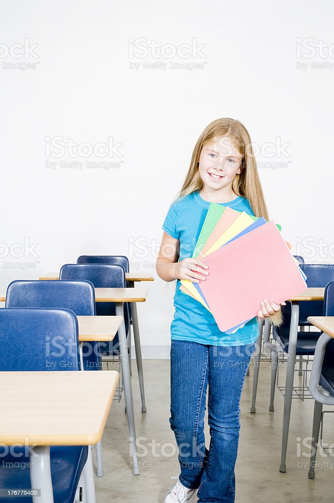 Happy Student in a Classroom royalty-free stock photo
