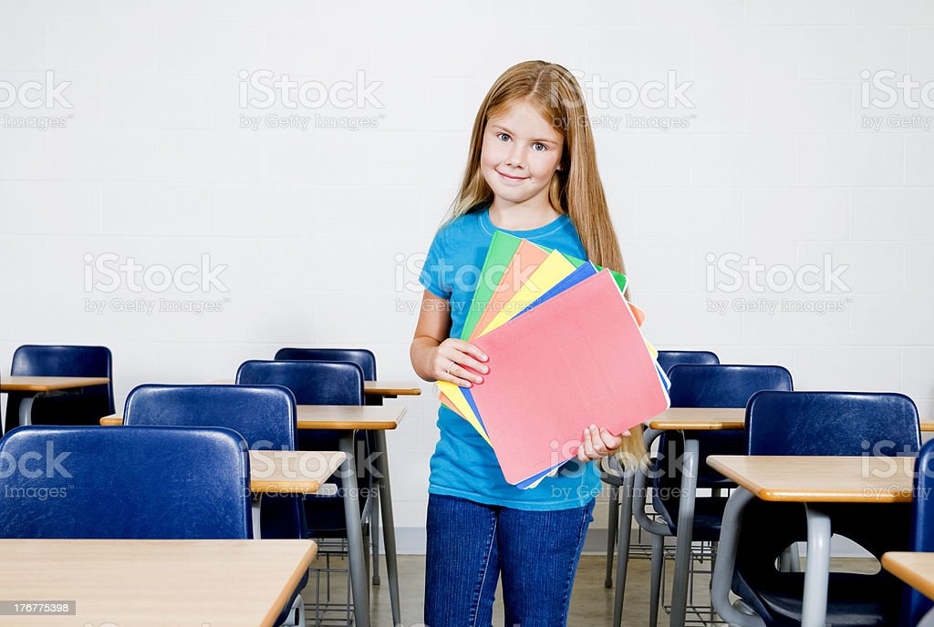 Happy Student in Classroom royalty-free stock photo