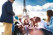 Happy student in paris