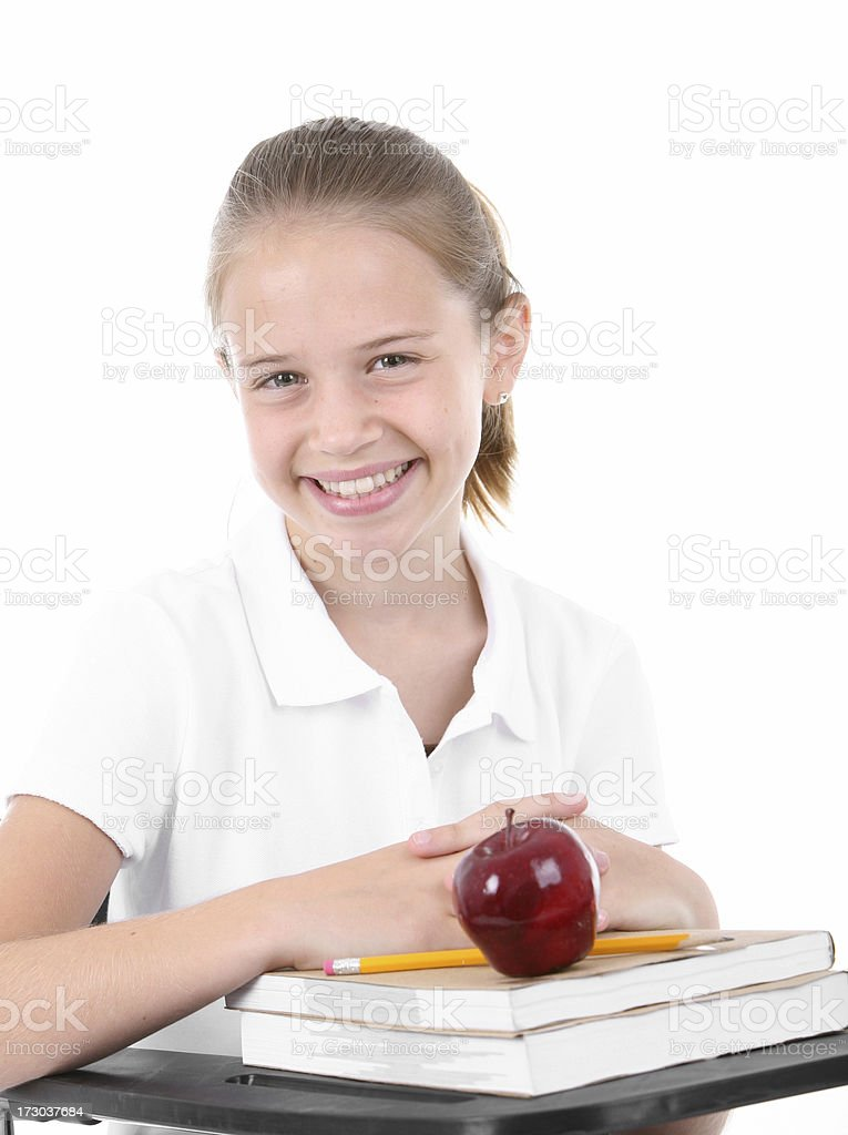Happy student stock photo
