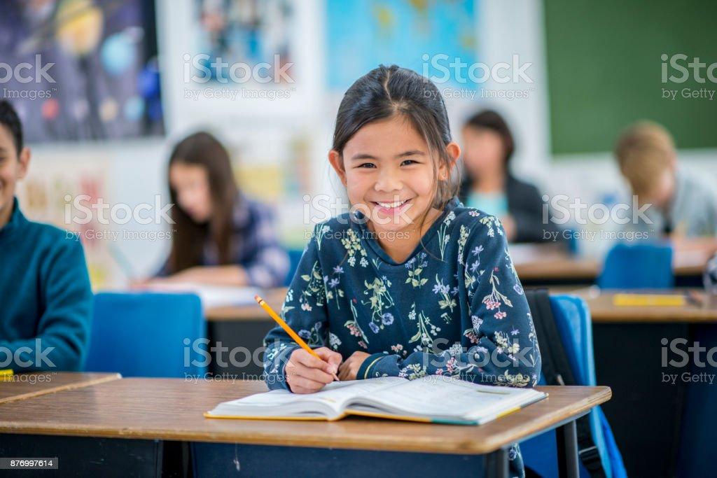 Glückliche Student Lizenzfreies stock-foto