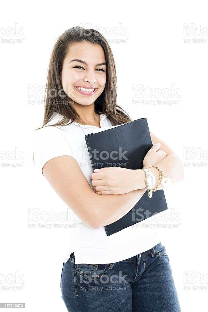 Happy student smiling royalty-free stock photo