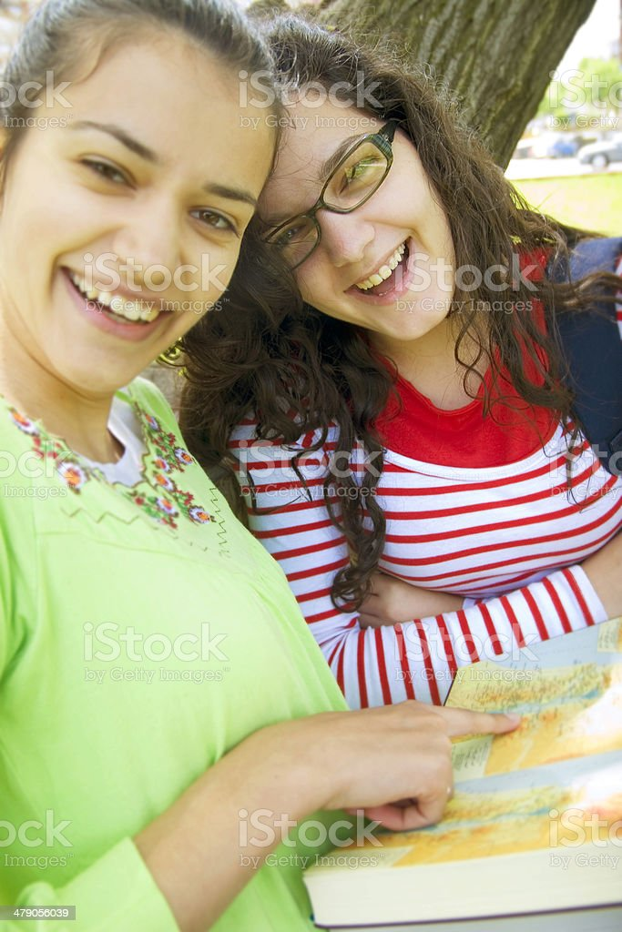 happy students! royalty-free stock photo