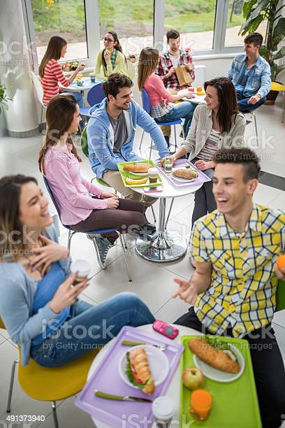 Happy students talking in cafeteria during lunch break picture id491373940?b=1&k=6&m=491373940&s=612x612&h=wvntxo6iflqzkahfll7 b7pj1r4nwep0ujhc 3w3gnc=