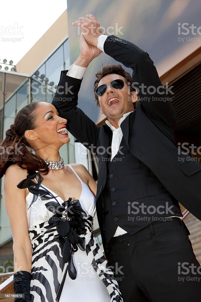 Happy successful couple royalty-free stock photo