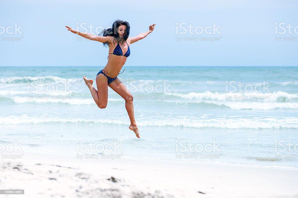 Happy Summer Jump royalty-free stock photo