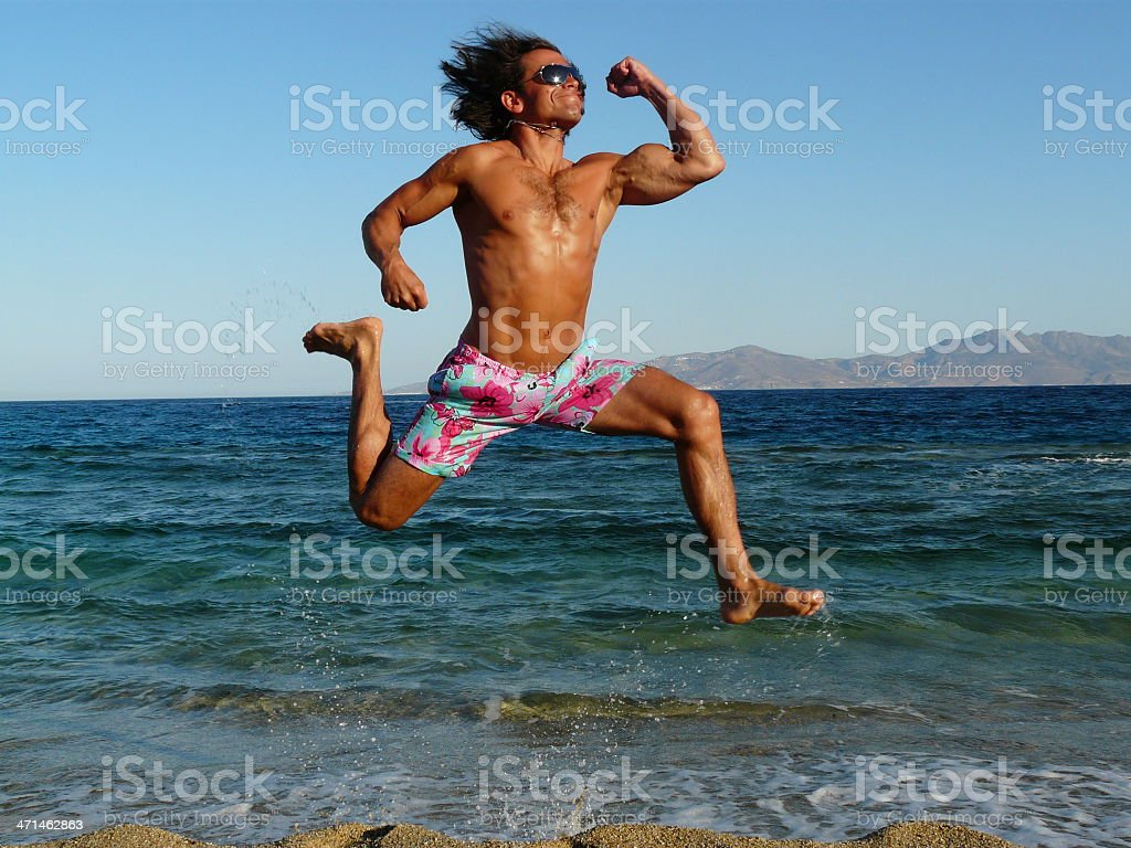 Happy Summer Man stock photo