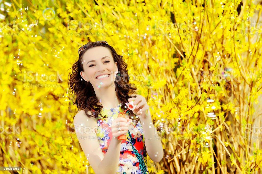 Feliz mujer de verano foto de stock libre de derechos