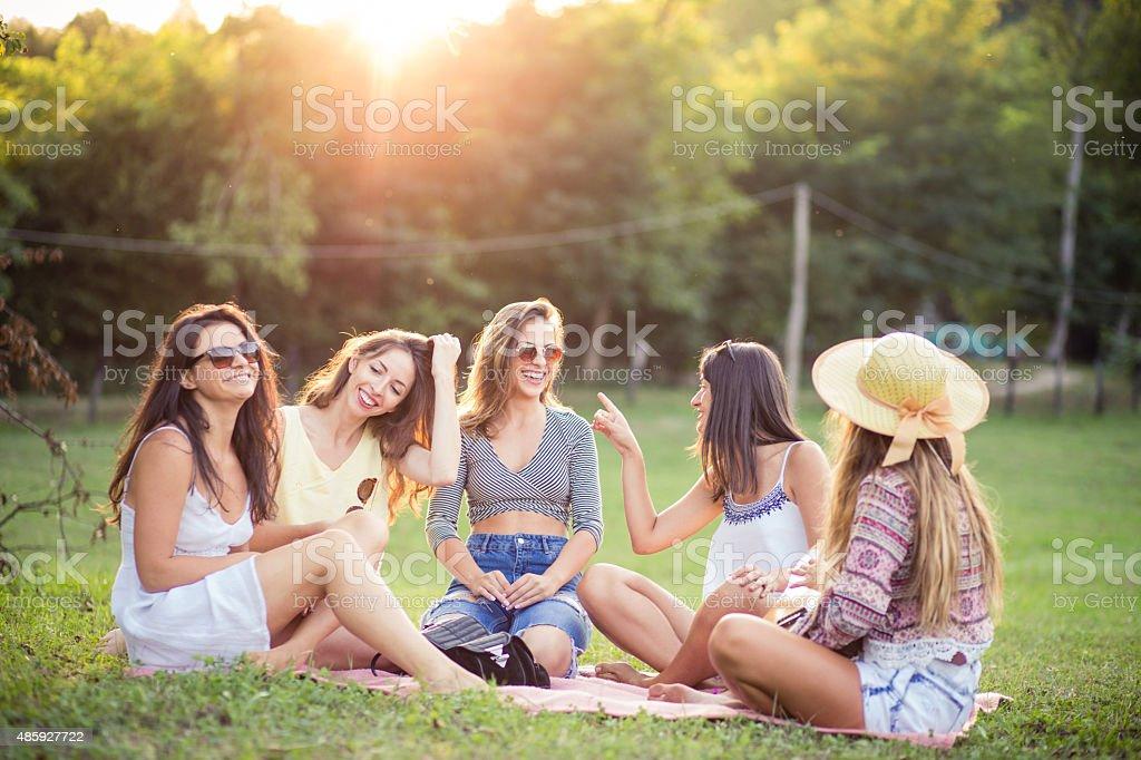 Happy sunny days stock photo