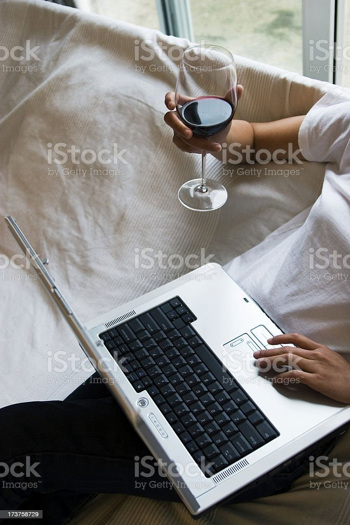 Happy surfing royalty-free stock photo