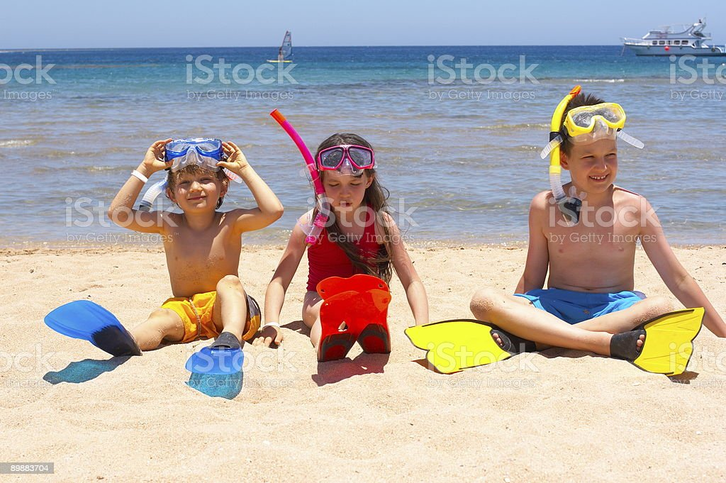 Happy Swimmers royalty-free stock photo