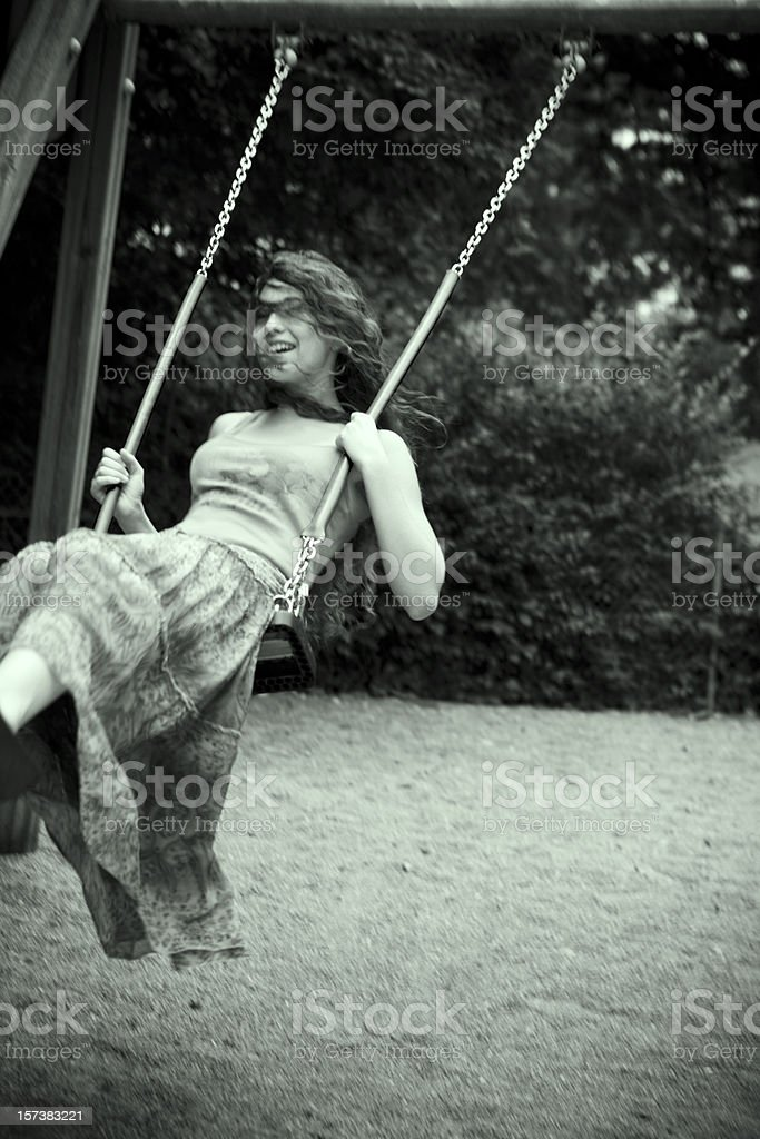 Happy swinging.... royalty-free stock photo