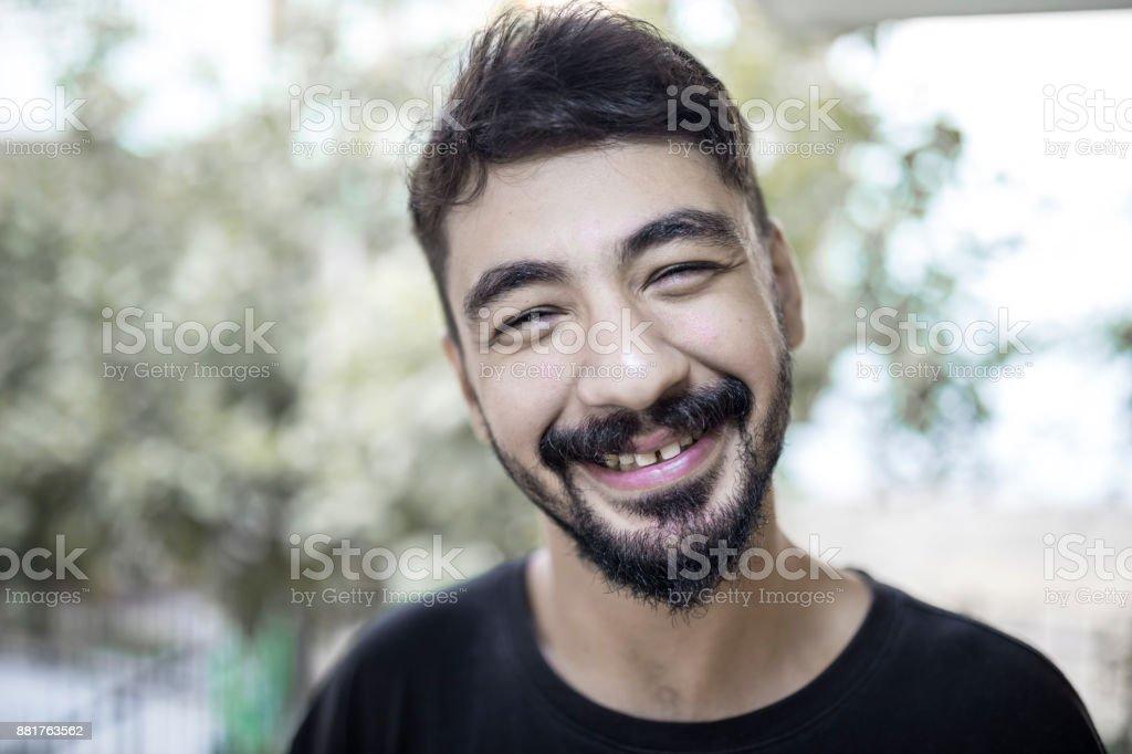 Happy Syrian Man stock photo