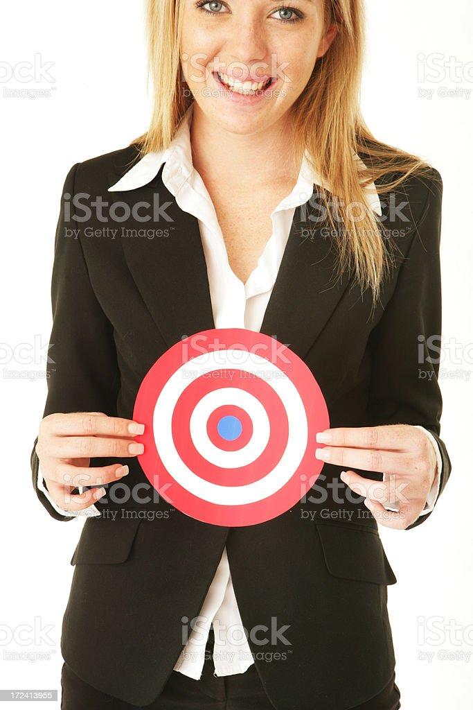 Happy Target royalty-free stock photo