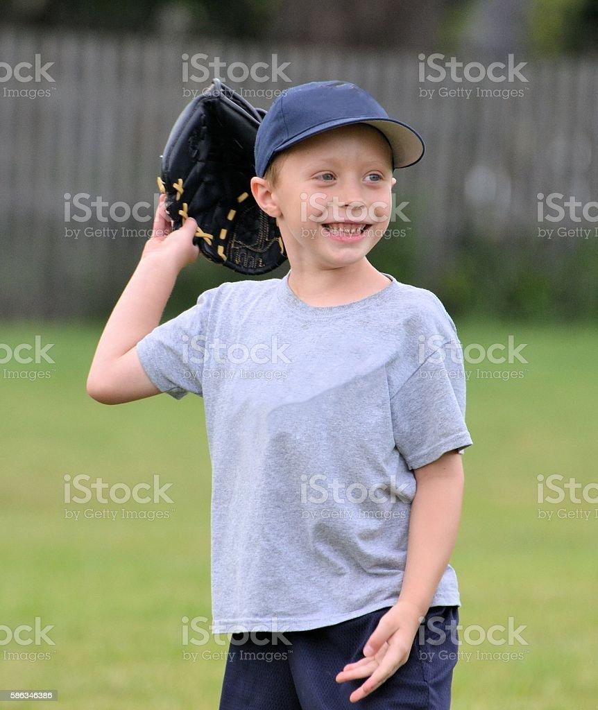 Happy T-ball Player stock photo