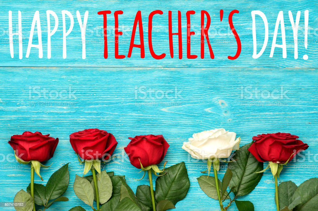 Happy teachers day greeting card with red and white roses stock happy teachers day greeting card with red and white roses royalty free stock photo m4hsunfo