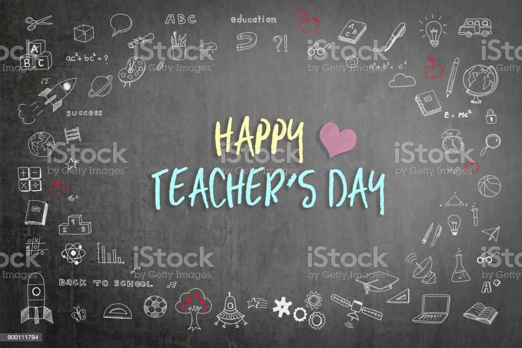Happy teacher's day stock photo
