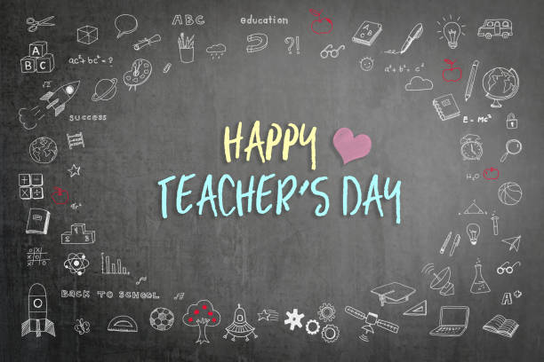happy teacher's day - ammirazione foto e immagini stock