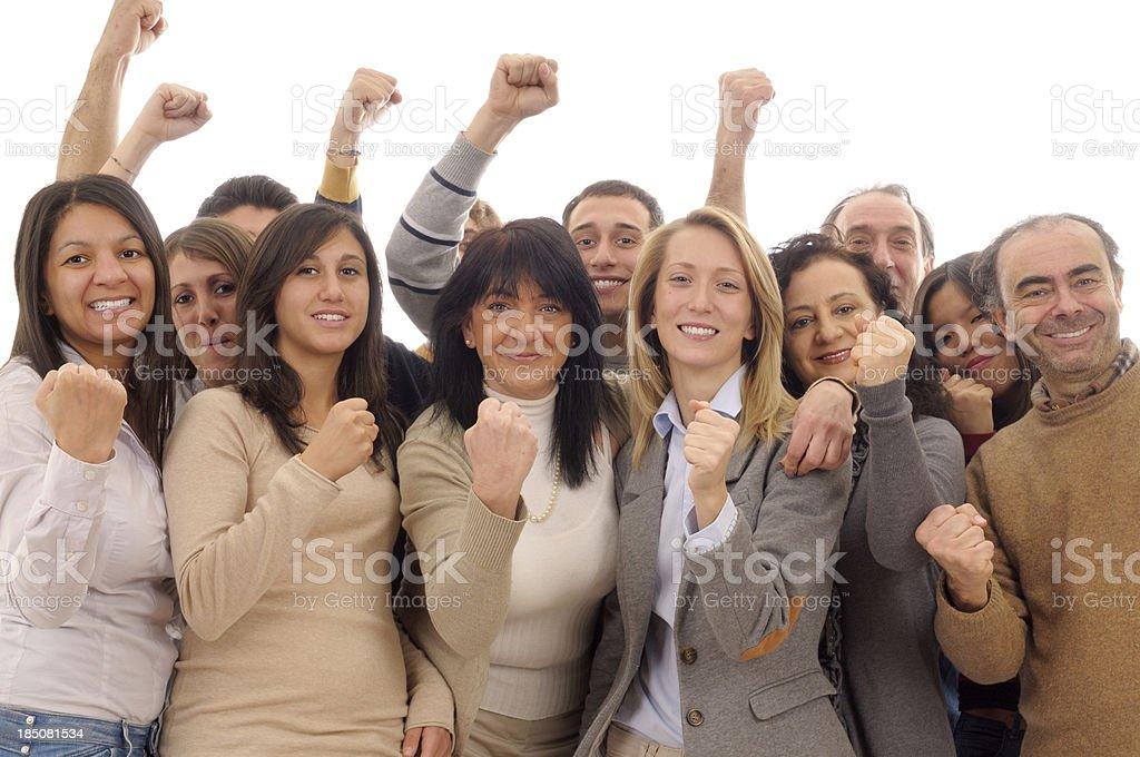 Happy Team Celebrating Success royalty-free stock photo