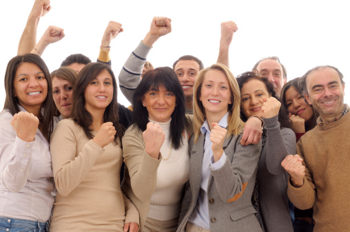 514325215 istock photo Happy Team Celebrating Success 185081534