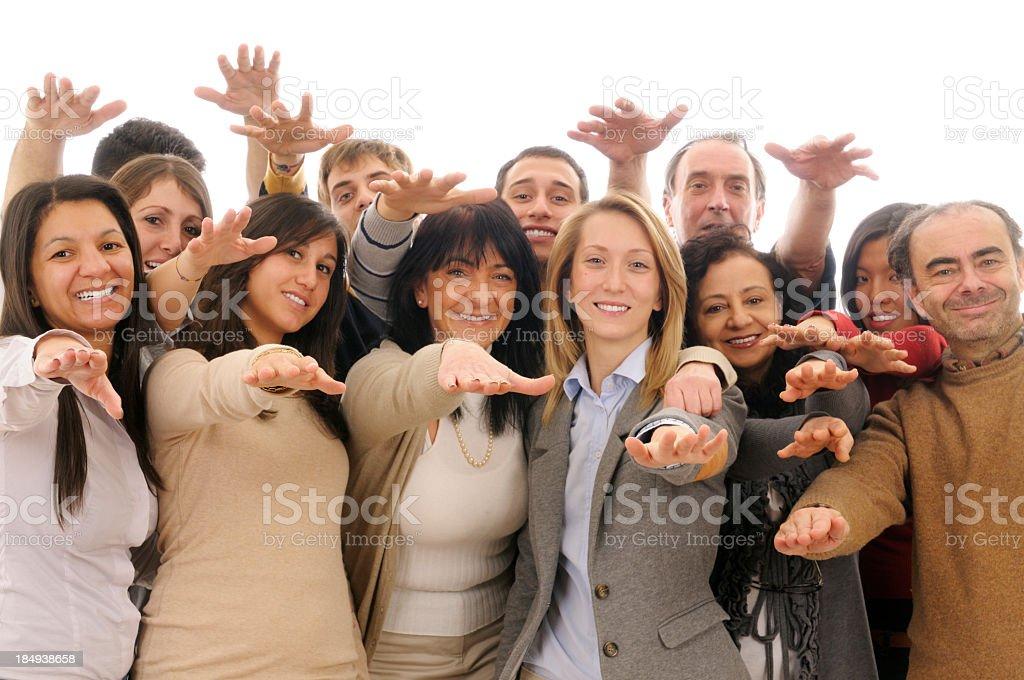 Happy Team Unity royalty-free stock photo