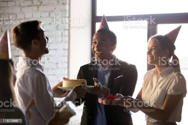 Happy teammates congratulating happy birthday to colleague picture id1152268871?b=1&k=6&m=1152268871&s=612x612&h=k5unlcz0rq1ntufnkvkg221yw krkvz3a7sdhyqcnym=