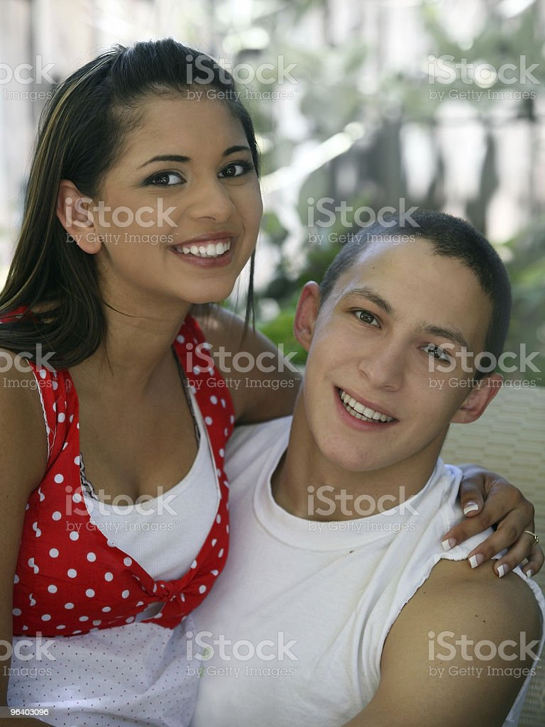 Happy teen couple - Royalty-free Adult Stock Photo