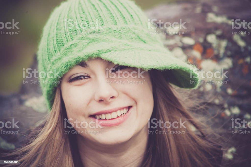 Happy Teen Girl stock photo
