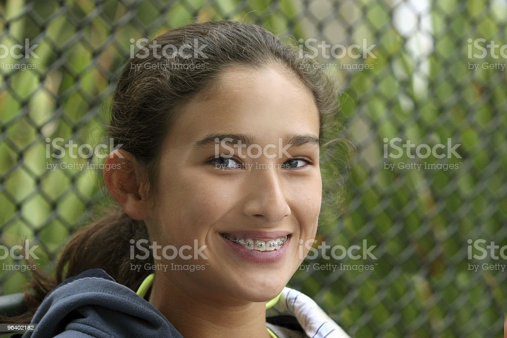 Happy teen girl  smiling - Royalty-free Adolescence Stock Photo
