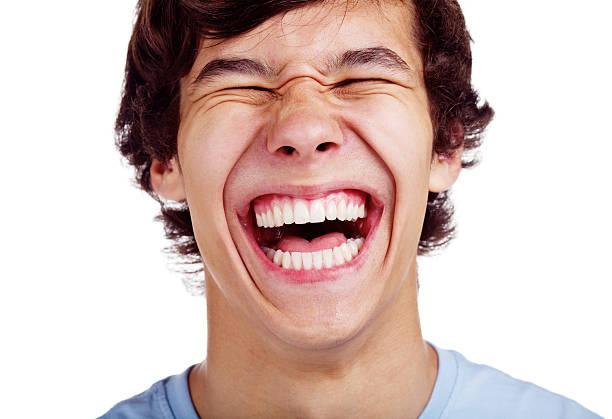 Glücklich teenage Lachen, Nahaufnahme – Foto