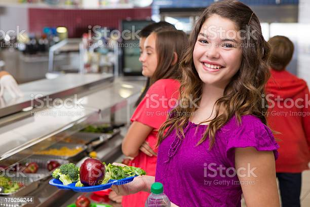 Happy teenager holding her lunch at the school cafeteria picture id175256244?b=1&k=6&m=175256244&s=612x612&h=vnk6r7zgmp93lfhuscb0jas3wov5iaohqlg5hgiiusq=
