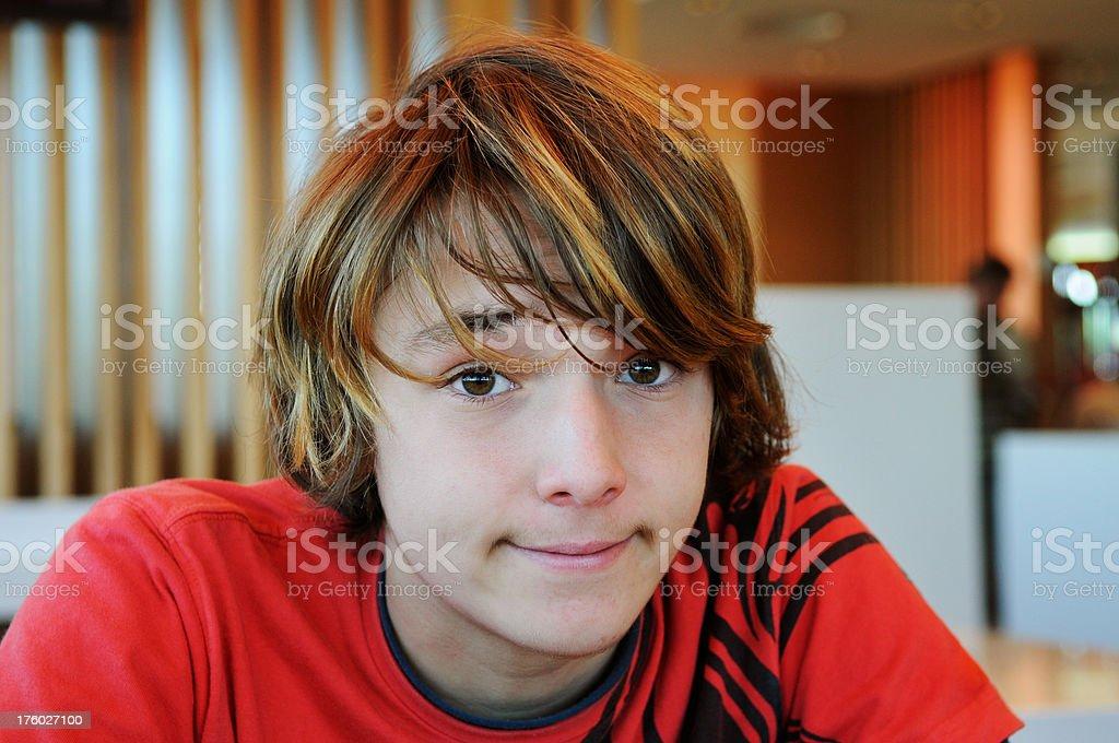 Happy teenager royalty-free stock photo
