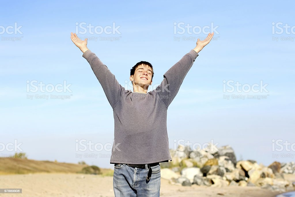 happy teenager royalty-free stock photo