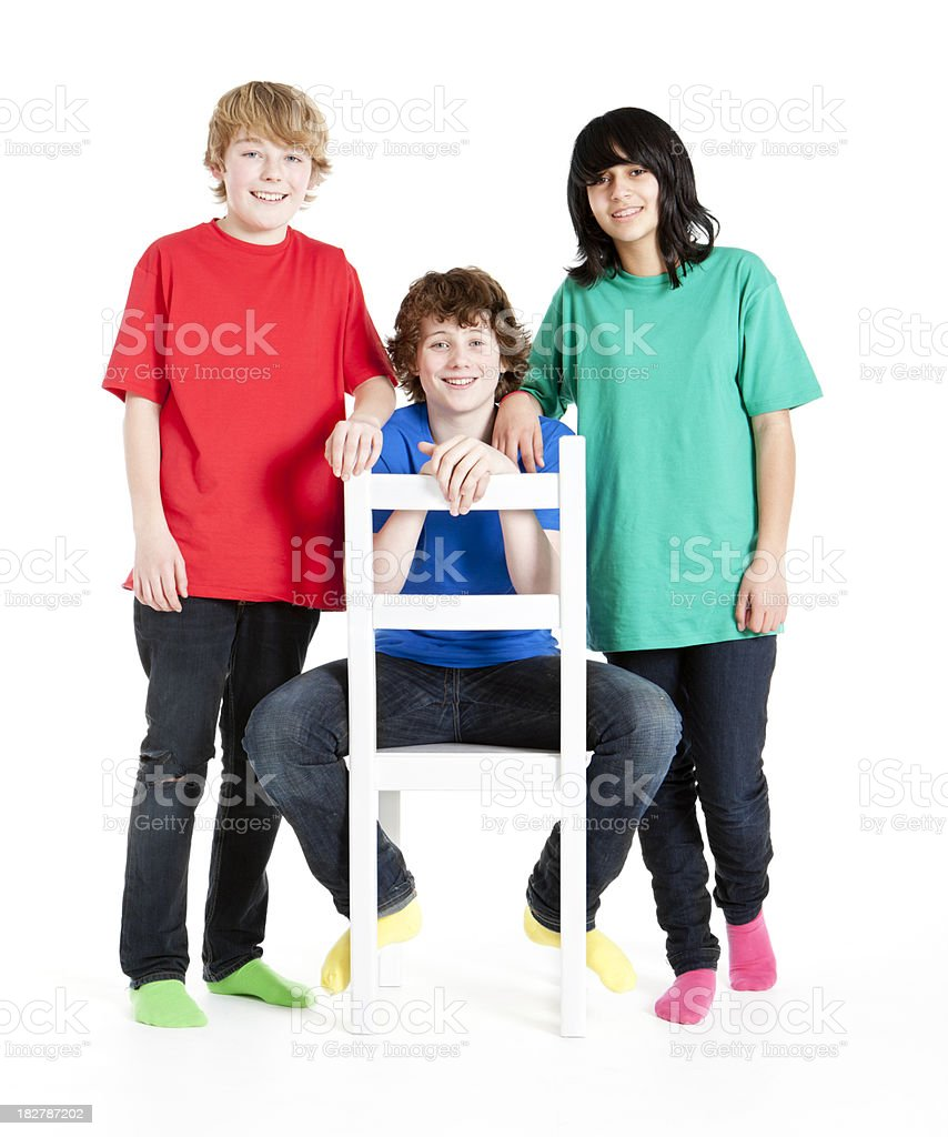 happy teenagers royalty-free stock photo