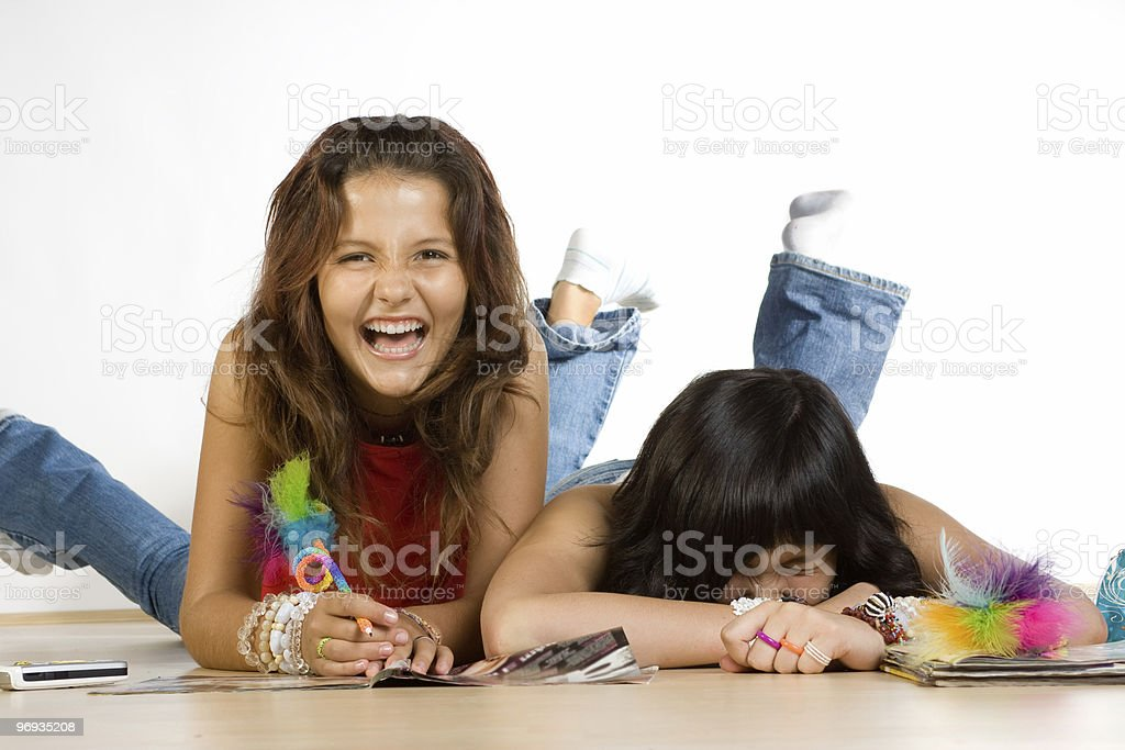 Happy Teenagers royalty-free stock photo