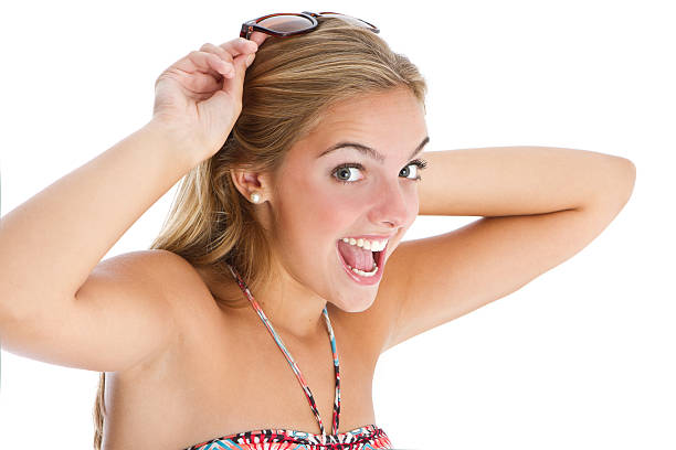 happy teen's close-up - tween models stock photos and pictures