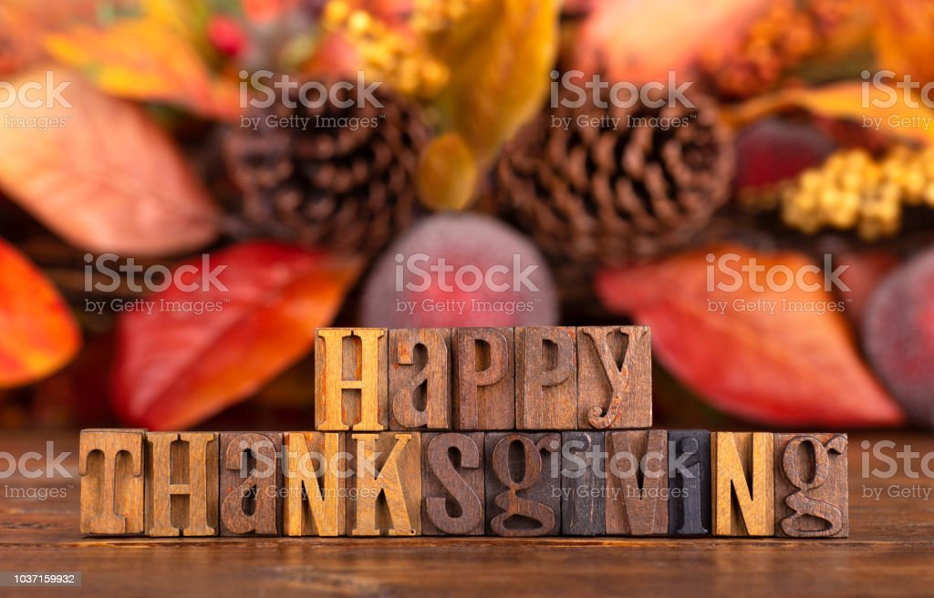 Happy Thanksgiving Banner stock photo