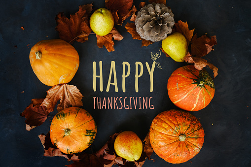 Happy thanksgiving day background.