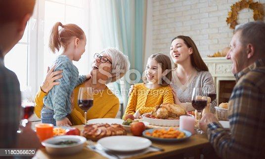 istock Happy Thanksgiving Day 1180366620