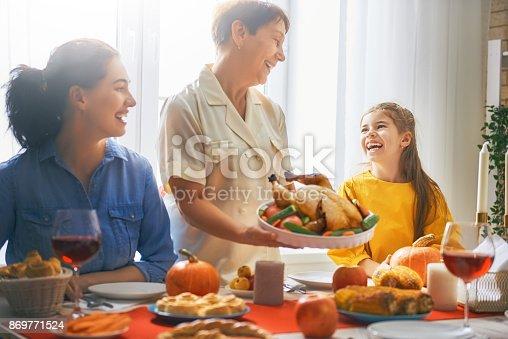 istock Happy Thanksgiving Day 869771524