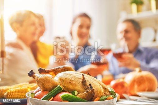 istock Happy Thanksgiving Day 869771850