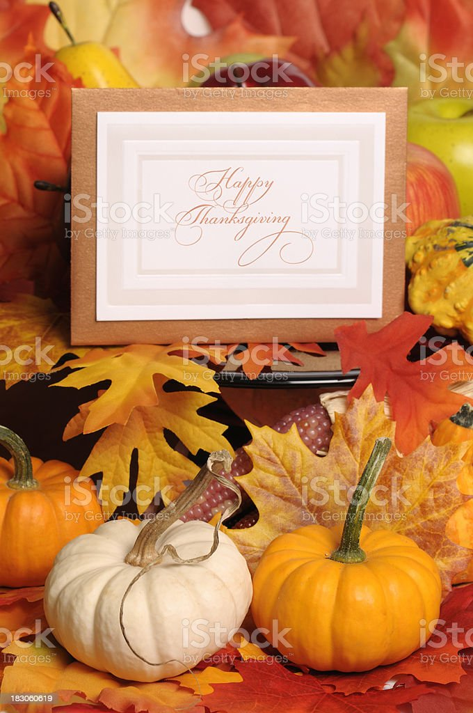 Happy Thanksgiving Greeting Card royalty-free stock photo