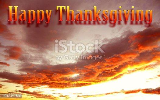 istock Happy Thanksgiving sky 1012141802